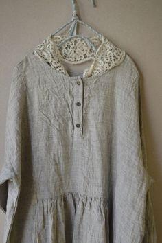 라르니에 정원 LARNIE Vintage&Zakka Simple Style, Cotton Linen, Tunic Tops, Skirt, Boho, Detail, Easy, Dress, Vintage
