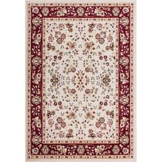 $94.54 - Well Woven Miami Bijar Classic Ivory 8 ft. 2 in. x 9 ft. 10 in. Traditional Area Rug