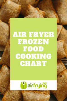 air fryer recipes meals - - Frozen Food - Air Fryer - Cooking Chart: from frozen chicken breasts, to hash browns. From spring rolls, to shrimp. Bookmark this chart. Air Fryer Oven Recipes, Air Frier Recipes, Air Fryer Dinner Recipes, Air Fryer Cooking Times, Cooks Air Fryer, Best Frozen Meals, Crockpot, Air Fried Food, Air Fryer Healthy