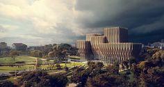 Diseñado por Zaha Hadid Architects en Phnom Penh,Cambodia Zaha Hadid Architectsha dado a conocer su diseño para el Instituto Rith Sleuk en Phnom Penh. El proyecto, encargado ...