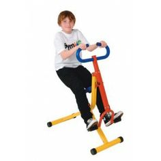 Outdoor exercise equipment in parks such as this exercise bike are great heavy work ideas for older children