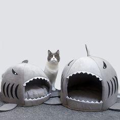 Hot Cat Mat Shark Shape House Warm Kennel Kittens Bed One Mats Two Usages Kennel Cat Beds Outdoor Tent Pet Products Cats Basket. Cat Shark, Cheap Cat Beds, Kitten Beds, Cat Basket, Cat Mat, Cat Cushion, Bed Mats, Cat Supplies, Cool Pets