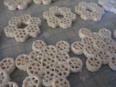 pasta snowflakes