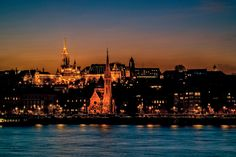 """'Budapest Fort"""" :: The view of the Buda Castle and Matthias Church from the Danube at dawn :: Budapest :: photo by Riccsi (Richárd Sárközi) Buda Castle, Budapest, Dawn, New York Skyline, Photos, Travel, Pictures, Voyage, Trips"""