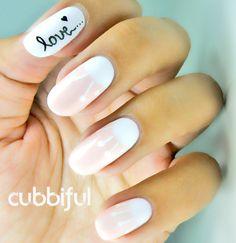 half moon love nails #prom