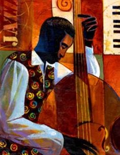 """Keith Mallett ~""""Jazz"""" is a giclee on canvas fine art print in an edition of 200. This beautiful print was created using the finest archival inks. Mounted on stretcher bars, it has been enhanced by the artist using acrylic paint. Jazz measures 11x14 inches."""