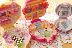 Pretty sure I had all of these Polly Pockets when I was little. One of my favorite childhood toys.