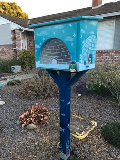 This charter 55935 in San Mateo, CA, is designed to look like an igloo, how adorable! Little Free Libraries, Free Library, Library Books, Book Illustration, Illustrations, Dot Org, Community Building, Librarians, The Neighbourhood