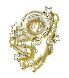 Astronaut Cat Pin With Helmet By AJC by DanaRaeJewelry on Etsy Crazy Cat Lady, Crazy Cats, Cat Pin, Space Cat, Cat Tattoo, Astronaut, Helmet, Vintage Jewelry, Brooch