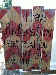 Wood Pallet Art Chevron Bible Verse Isaiah by HollysHobbiesTN