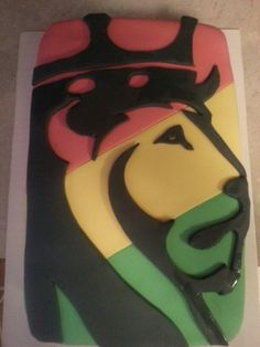Reggae lion cake. Made for a co-worker. Im proud of myself!