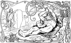 by Lorenz Frølich 1895  Odin as Harbard being a pain to Thor on the left