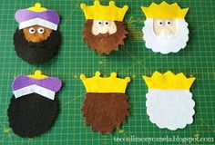 The wise men are coming! Yes, they have reached the Christmas tree in this way . Nativity Ornaments, Felt Ornaments, Cool Pictures, Beautiful Pictures, Christmas Decorations, Christmas Tree, Wise Men, Finger Puppets, Felt Dolls
