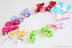 Simple bow hair clips