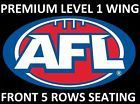 #Ticket  AFL Tickets  Geelong Cats v North Melbourne Kangaroos  Level 1 Centre Wing #Australia