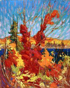Autumn Foliage Tom Thomson - 1916