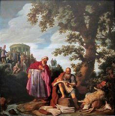 Pieter Lastman - Hippocrates en Democritus