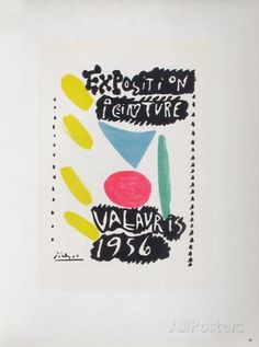 AF 1956 - Exposition peinture Vallauris Collectable Print by Pablo Picasso at AllPosters.com