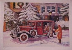 Classic train christmas cards