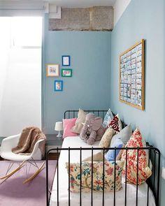 Chambre fille bleue