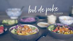 Bol de poke au saumon | Cuisine futée, parents pressés Power Smoothie, Smoothie Bowl, Seafood Dishes, Fish And Seafood, Salad Bowls, Soup And Salad, Quebec, Sushi Bowl, Healthy Salads