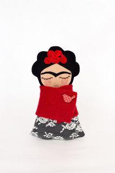 Frida Kahlo Doll by Guadalupecreations on Etsy https://www.etsy.com/listing/223932043/frida-kahlo-doll