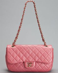 Chanel Pink Quilted Leather Flap Bag