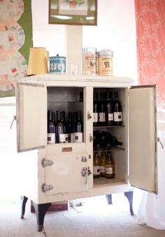 unique wine cabinet idea!