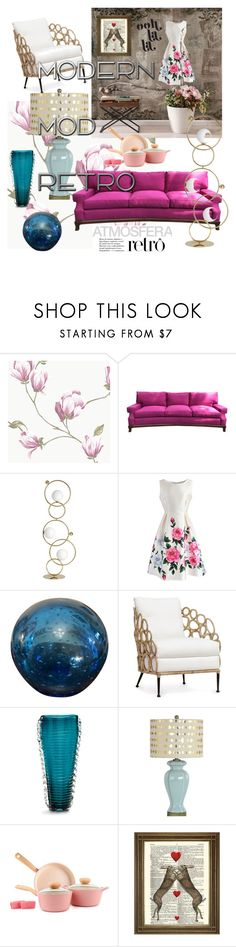 """""""modern &retro"""" by monejka ❤ liked on Polyvore featuring interior, interiors, interior design, home, home decor, interior decorating, Chicwish, Palecek, Cyan Design and Aspire Home Accents"""