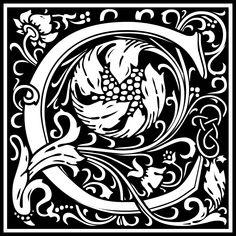 Free Clipart: William Morris Letter C | Symbol | kuba