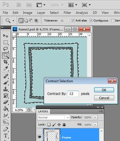 how to create hand drawn frames in photoshop