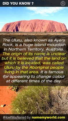 So how will you name your baby? Hint : Use our apps > bit.ly/NMWiphone / bit.ly/NMWandroid  #HowItWasNamed #Uluru #AyersRock