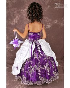 white leather wedding dress with purple | girl dress s price is same we are a professional wedding dresses ...