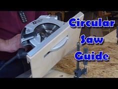 How to make a circular saw guide to aid in making crosscuts in plywood. Simple to make and inexpensive.