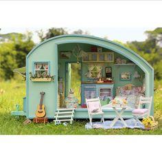 2015 fashion Wood diy doll house travel miniatura home casa casinha boneca furniture poppenhuis unisex grownups multicolor