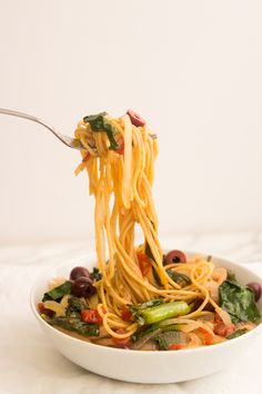 Whole Wheat Spaghetti with Swiss Chard - Giadzy