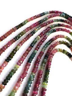 Natural Tourmaline Beads, Gemstone Beads, Watermelon Tourmaline Beads, Tourmaline Beads, Jewelry Sup Diy Jewelry Projects, Jewelry Making Supplies, Craft Supplies, Tourmaline Gemstone, Gemstone Beads, Watermelon Tourmaline, Beaded Earrings, My Etsy Shop, Gemstones