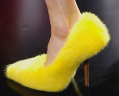 You know,  I was just thinking I needed a FUR pump for Spring . . .#CELINE SPRING 2013 RTW http://www.talkshoes.com/files/2012/10/Celine-3.jpg