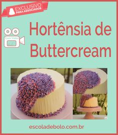 Hortensia de Buttercream, bolo maravilhoso e ricamente decorado