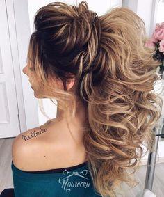 ✂ Модные стрижки и прически 2018 фото ✂ Sweet 16 Hairstyles, Wedding Hairstyles For Long Hair, Wedding Hair And Makeup, Ponytail Hairstyles, Hairstyles Haircuts, Bridal Hair, Cool Hairstyles, Hair Makeup, Aspirin For Hair
