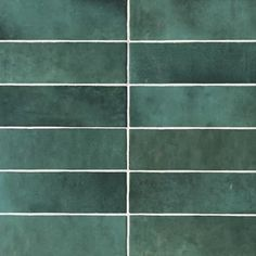 Bedrosians Cloe Green x Glossy Ceramic Subway Wall Tile at Lowe's. The Cloe collection is a hand crafted artisan style ceramic wall tile. Ceramic Subway Tile, Green Subway Tile, Green Tiles, Ceramic Flooring, Subway Tiles, Stone Flooring, Style Tile, Color Tile, Colour