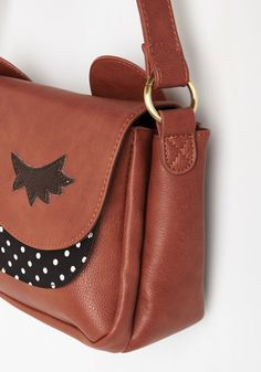 Pick of the Critter Bag. This adorable mahogany shoulder bag is your first pick to accompany you throughout your day to tote all of your must-haves. #brown #modcloth