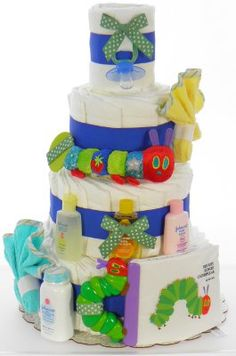 The World of Eric Carle Caterpillar Rattle Diaper Cake (Soft Book Included) DEVORAH! This is adorable! Baby Shower Activities, Baby Shower Games, Baby Showers, Cute Gifts, Baby Gifts, Gift Card Giveaway, Hungry Caterpillar, Shower Gifts, Gift Ideas