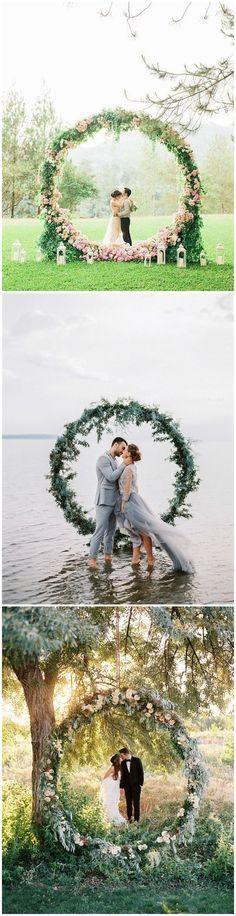 Wedding Decorations » Top 22 Creative DIY Wedding Wreath Ideas Worth Stealing » ❤️ More: http://www.weddinginclude.com/2017/05/creative-diy-wedding-wreath-ideas-worth-stealing/