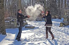 Winter Engagement Couple Pose
