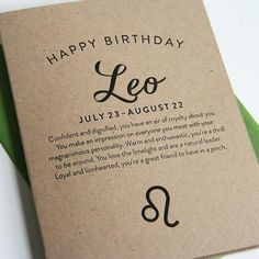 Astrology Birthday Card-Leo
