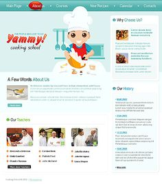 Yammy Cooking Website Templates by Delta
