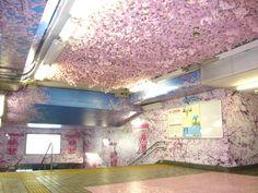 東京メトロ・上野駅で桜が満開!アサヒスーパードライが仕掛けた期間限定プロモーション | AdGang