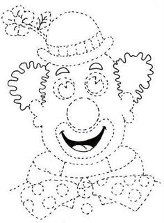 clown to color Clown Crafts, Carnival Crafts, Felt Crafts, Diy And Crafts, Crafts For Kids, Clowns, Theme Carnaval, Le Clown, Create Invitations