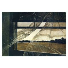 """Andrew Wyeth, """"Wind from the Sea,"""" 1947  """"I prefer winter and fall, when you can feel the bone structure in the landscapethe lonliness of it---the dead feeling of winter. Something waits beneath it---the whole story dosen't show.""""  #fridayart #andrewwyeth #andrewnewellwyeth #visualartist #realistpainter #regionaliststyle #photographic #victorian #painting #landscape"""